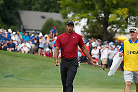 Tiger Woods (USA) putts out on the 5th hole during the final round of the 100th PGA Championship at Bellerive Country Club, St. Louis, Missouri, USA. 8/12/2018.<br /> Picture: Golffile.ie | Brian Spurlock<br /> <br /> All photo usage must carry mandatory copyright credit (&copy; Golffile | Brian Spurlock)