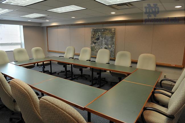 Notre Dame Facilities Building conference room...Photo by Matt Cashore/University of Notre  Dame..