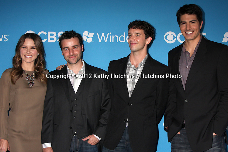LOS ANGELES - SEP 15:  Sophia Bush, David Krumholtz, Michael Urie, Brandon Routh arrives at the CBS 2012 Fall Premiere Party  at Greystone Manor on September 15, 2012 in Los Angeles, CA