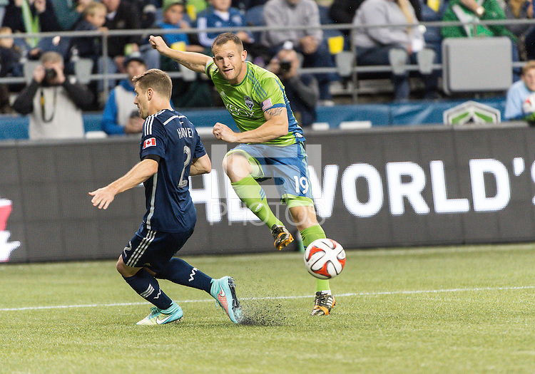 Seattle, Washington - October 10,  2014: The Vancouver Whitecaps defeated Seattle Sounders FC 1-0 in Major League Soccer action at CenturyLink Field.