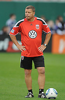 DC United assistant coach Chad Ashton.    DC United tied The Colorado Rapids 1-1, at RFK Stadium, Saturday  May 14, 2011.