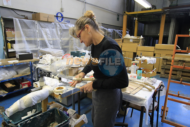 All the badges are placed on by hand, Bianchi Factory, Treviglio, Italy. 30th September 2015.<br /> Picture: Eoin Clarke | Newsfile