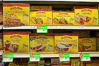 Old el Paso taco, burritos and fajita kit are seen with French label in a Metro grocery store in Quebec city March 4, 2009.