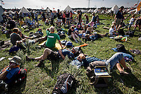 About 7000 Camp-in-Camp participants were arriving the Jamboree one day. Photo: Jonas Elmqvist/Scouterna