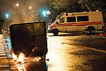 © Joel Goodman - 07973 332324 . 08/08/2011 . London , UK . Police in Brixton during a 2nd night of rioting and looting in London , which followed a protest against the police shooting of Mark Duggan in Tottenham . Photo credit : Joel Goodman
