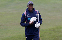 Daniel Bell-Drummond of Kent walks towards the players dressing room having finished warming up prior to Kent CCC vs Essex CCC, Friendly Match Cricket at The Spitfire Ground on 27th July 2020