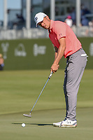 Jordan Spieth (USA) watches his putt on on 18 during round 4 of the AT&T Byron Nelson, Trinity Forest Golf Club, Dallas, Texas, USA. 5/12/2019.<br /> Picture: Golffile   Ken Murray<br /> <br /> <br /> All photo usage must carry mandatory copyright credit (© Golffile   Ken Murray)