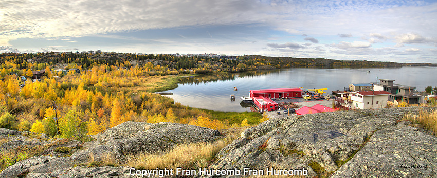 September afternoon overlooking Back Bay Yellowknife
