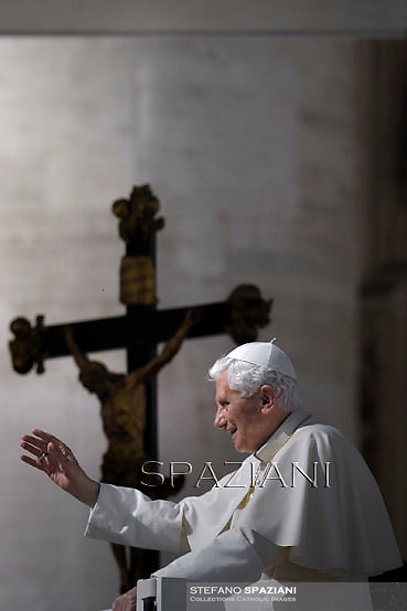 Pope Benedict XVI during his weekly general audience in St. Peter square at the Vatican, Wednesday. 10 October, 2012