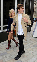 Pixie Lott and Oliver Cheshire.Mark Fast - s/s 2013 catwalk show.Somerset House, London 17/09/12..Photo by Jane Burrows/People Press.