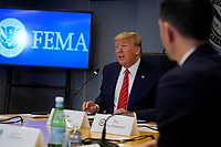 United States President Donald J. Trump speaks during a teleconference with governors at the Federal Emergency Management Agency headquarters, Thursday, March 19, 2020, in Washington, DC.<br /> Credit: Evan Vucci / Pool via CNP/AdMedia