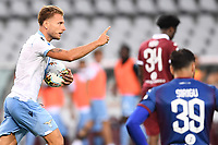 Ciro Immobile of SS Lazio celebrates after scoring the goal of 1-1 during the Serie A football match between Torino FC and SS Lazio at stadio Olimpico in Turin ( Italy ), June 30th, 2020. Play resumes behind closed doors following the outbreak of the coronavirus disease. <br /> Photo Image Sport / Insidefoto
