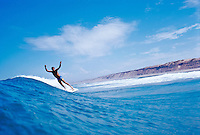 Bruce Raymond (AUS) surfing at Thirteenth Beach, Barwon Heads, Victoria Australia. circa 1982 Photo: joliphotos.com
