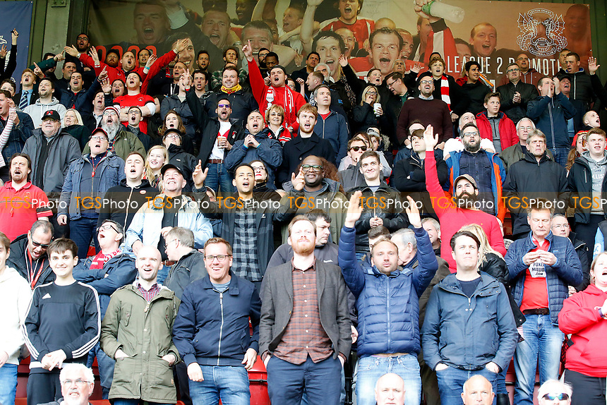 O's fans during the game during Leyton Orient vs Hartlepool United, Sky Bet EFL League 2 Football at the Matchroom Stadium on 17th April 2017