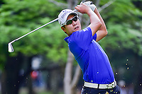 K.T. Kim (KOR) watches his tee shot on 7 during round 2 of the World Golf Championships, Mexico, Club De Golf Chapultepec, Mexico City, Mexico. 3/3/2017.<br /> Picture: Golffile | Ken Murray<br /> <br /> <br /> All photo usage must carry mandatory copyright credit (&copy; Golffile | Ken Murray)