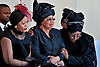 Qunu, South Africa: 15.12.2013: STATE FUNERAL FOR NELSON MANDELA<br /> GRACA MACHEL(Mandela's Widow) IS COMFORTED BY WINNIE MANDELA(Nelson's former wife)<br /> at the burial ceremony for former President Nelson Mandela in Qunu, Eastern Cape, South Africa<br /> Mandatory Credit Photo: &copy;Jiyane-GCIS/NEWSPIX INTERNATIONAL<br /> <br /> **ALL FEES PAYABLE TO: &quot;NEWSPIX INTERNATIONAL&quot;**<br /> <br /> IMMEDIATE CONFIRMATION OF USAGE REQUIRED:<br /> Newspix International, 31 Chinnery Hill, Bishop's Stortford, ENGLAND CM23 3PS<br /> Tel:+441279 324672  ; Fax: +441279656877<br /> Mobile:  07775681153<br /> e-mail: info@newspixinternational.co.uk