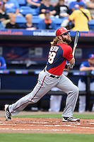 Washington Nationals outfielder Jayson Werth (28) during a spring training game against the New York Mets on March 27, 2014 at Tradition Field in St. Lucie, Florida.  Washington defeated New York 4-0.  (Mike Janes/Four Seam Images)
