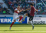06.10.2018, HDI Arena, Hannover, GER, 1.FBL, Hannover 96 vs VfB Stuttgart<br /> <br /> DFL REGULATIONS PROHIBIT ANY USE OF PHOTOGRAPHS AS IMAGE SEQUENCES AND/OR QUASI-VIDEO.<br /> <br /> im Bild / picture shows<br /> Andreas Beck (VfB Stuttgart #32) im Duell / im Zweikampf mit Miiko Albornoz (Hannover 96 #03), <br /> <br /> Foto &copy; nordphoto / Ewert