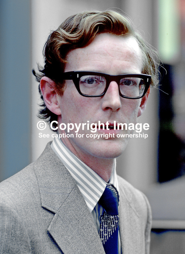 David Trimble, prominent Ulster Unionist politician, law lecturer, Queen's University, Belfast, N Ireland, UK, 19871000302DT2.<br />
