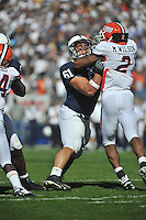 09 October 2010:  Penn State guard Stefen Wisniewski (61) pass blocks.  The Illinois Fighting Illini defeated the Penn State Nittany Lions 33-13 at Beaver Stadium in State College, PA..