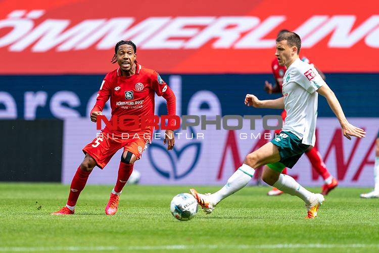 Jean-Paul Boëtius / Boetius (FSV Mainz 05 #05), Maximilian Eggestein (Werder Bremen #35)<br /> <br /> <br /> Sport: nphgm001: Fussball: 1. Bundesliga: Saison 19/20: 33. Spieltag: 1. FSV Mainz 05 vs SV Werder Bremen 20.06.2020<br /> <br /> Foto: gumzmedia/nordphoto/POOL <br /> <br /> DFL regulations prohibit any use of photographs as image sequences and/or quasi-video.<br /> EDITORIAL USE ONLY<br /> National and international News-Agencies OUT.
