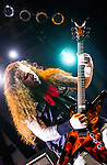 Live photographs of Damageplan guitarist, Dimebag Darrell