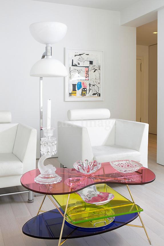 modern white armchairs