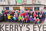 The large crowd that gathered at the Bridge bar Rathmore on Saturday for the chairty walk in aid of Kerry Mountain Rescue and Pieta House
