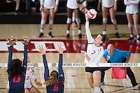 STANFORD, CA - October 14, 2016: Ivana Vanjak at Maples Pavilion. The Arizona Wildcats defeated the Cardinal 3-1.