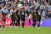 Raheem Sterling of Manchester City scores the 5th goal during West Ham United vs Manchester City, Premier League Football at The London Stadium on 10th August 2019