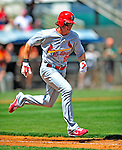 13 March 2009: St. Louis Cardinals' outfielder Colby Rasmus in action during a Spring Training game against the Baltimore Orioles at Fort Lauderdale Stadium in Fort Lauderdale, Florida. The Cardinals defeated the Orioles 6-5 in the Grapefruit League matchup. Mandatory Photo Credit: Ed Wolfstein Photo