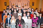 Confirmation pupils from Cullina National School with Bishop Bill Murphy in St Marys Church, Beaufort, last Thursday..