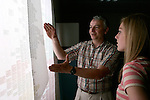 0505-08 Sederburg/Barrett Lab..5/6/05..Tom Sederburg, William Barrett and Moriah McClanahan (CS Senior) working with geneology program that allows geneologists to print out large pedigree charts. ..For Presidents Report..Photo by Jaren Wilkey/BYU..Copyright BYU Photo 2005.All Rights Reserved.photo@byu.edu  (801)422-7322
