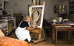 Kerry artist Pauline Bewick pictured in her studio near Glenbeigh, County Kerry.
