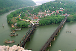 View of the village of Harpers Ferry, Harpers Ferry National Historical Park, West Virginia, USA