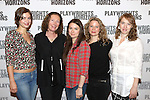 Elvy Yost, Brenda Wehle, Leah Karpel, Jessica Dickey, and Crystal Finn. attend the 'Pocatello' Meet & Greet at Playwrights Horizons on October 21, 2014 in New York City.
