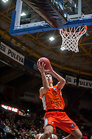 VALENCIA, SPAIN - NOVEMBER 3: Vladimir Lucic during EUROCUP match between Valencia Basket Club and CAI Zaragozaat Fonteta Stadium on November 3, 2015 in Valencia, Spain