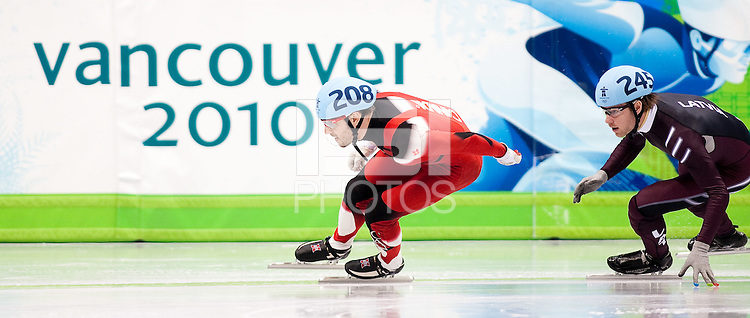 VANCOUVER, CANADA--Men's 500m Short Track, Pacific Coliseum. .