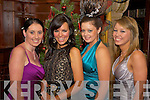 Miss Christmas in Killarney finalists Margaret Riney, Sarah Leivey and Sinead Brady pictured with Miss Kerry Helena Hanbridge at the final night of the competition in the Killarney Avenue Hotel on Friday night...   Copyright Kerry's Eye 2008