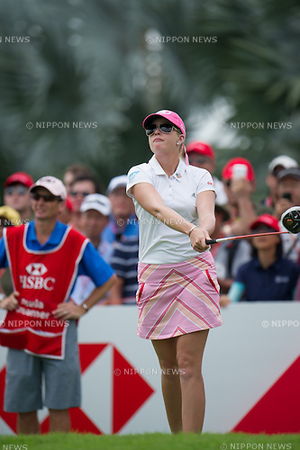 Paula Creamer (USA),.MARCH 3, 2013 - Golf :.Paula Creamer of United States tees off during the final round of the HSBC Women's Champions at Sentosa Golf Club in Singapore. (Photo by Haruhiko Otsuka/AFLO)