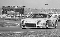 The #38 Mazda RX-7 of Roger Mandeville,  Kelly Marsh, and Danny Smith races to a 19th place finish in the Rolex 24 at Daytona, Daytona International Speedway, Daytona Beach, FL, February 1, 1987.  (Photo by Brian Cleary/www.bcpix.com)
