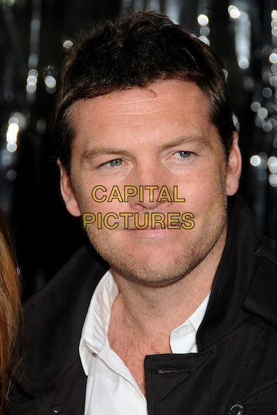 Sam Worthington.L.A. Premiere of  'Man on a Ledge' held at The Grauman's Chinese Theatre in Hollywood, California, USA..January 23rd, 2012 .headshot portrait stubble facial hair grey gray white.CAP/ADM/BP.©Byron Purvis/AdMedia/Capital Pictures.