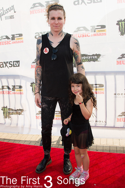 Laura Jane Grace attends the 2014 AP Music Awards at the Rock And Roll Hall Of Fame and Museum at North Coast Harbor in Cleveland, Ohio.