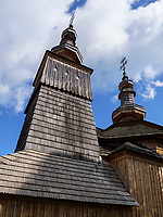 Griechisch-katholische Holzkirche St. Michael von 1742  in Ladomirova, Presovsky kraj, Slowakei, Europa, UNESCO-Weltkulturerbe<br /> Greek-catholic wooden church St. Michael built 1742 in Ladomirova, Presovsky kraj, Slovakia, Europe, UNESCO world heritage