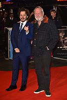 Edgar Wright, Terry Gilliam<br /> 'Widows' opening gala screening at BFI London Film Festival 2018 in Leicester Square, London, England on October 10, 2018.<br /> CAP/PL<br /> &copy;Phil Loftus/Capital Pictures