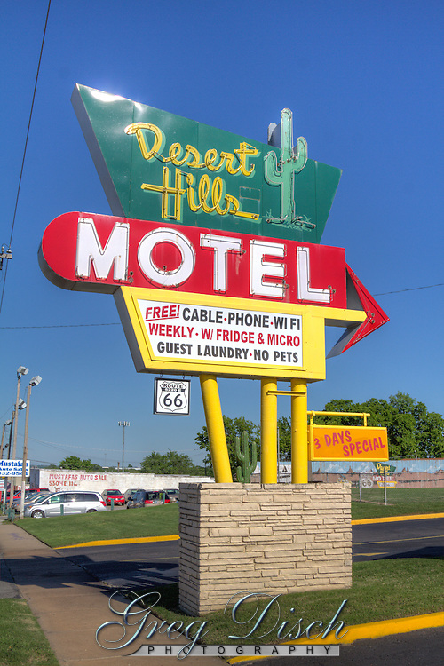 Desert Hills Motel on Route 66 in Tulsa Oklahoma.