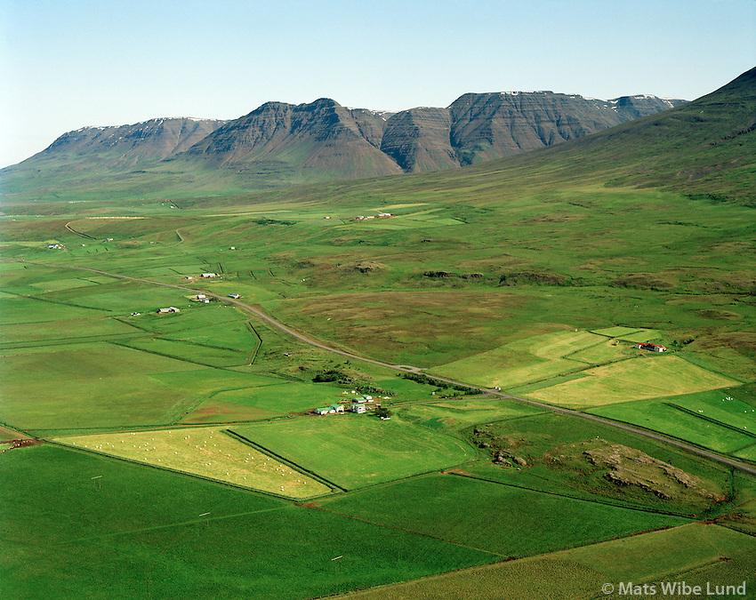 Víðivellir og Ásgarður séð til norðausturs, Akrahreppur / Vidivellir og Asgardur vieiwing northeast, Akrahreppur.