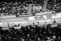 Iljo Keisse (BEL/Etixx-QuickStep) speeding along on his home track: the iconic Kuipke Velodrome<br /> <br /> 2015 Gent 6