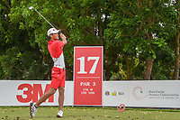 Kazuya OSAWA (JPN) watches his tee shot on 17 during Rd 3 of the Asia-Pacific Amateur Championship, Sentosa Golf Club, Singapore. 10/6/2018.<br /> Picture: Golffile | Ken Murray<br /> <br /> <br /> All photo usage must carry mandatory copyright credit (© Golffile | Ken Murray)