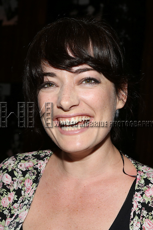 Laura Michelle Kelly posing for the 'Wake Up with Broadwayworld.com' campaign at Joe's Pub on June 16, 2014 in New York City.